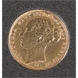 AN 1885 FULL SOVEREIGN, Melbourne Mint.
