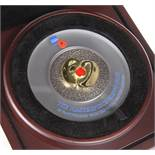 """A WESTMINSTER LIMITED EDITION TEN POUND SILVER PROOF, """"MASTERPIECE POPPY COIN"""", Jersey, from an"""