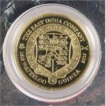 """A LONDON MINT GOLD PROOF COIN, """"THE 2015 EAST INDIA COMPANY WATERLOO GUINEA"""", 1.05 denomination,"""