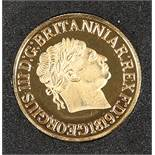 A COINCRAFT REPLICA GEORGE III SOVEREIGN, in 9 carat gold.