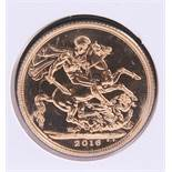 """A 2016 WESTMINSTER LIMITED EDITION COMMEMORATIVE GOLD SOVEREIGN, """"PRINCE GEORGE GOLD SOVEREIGN"""