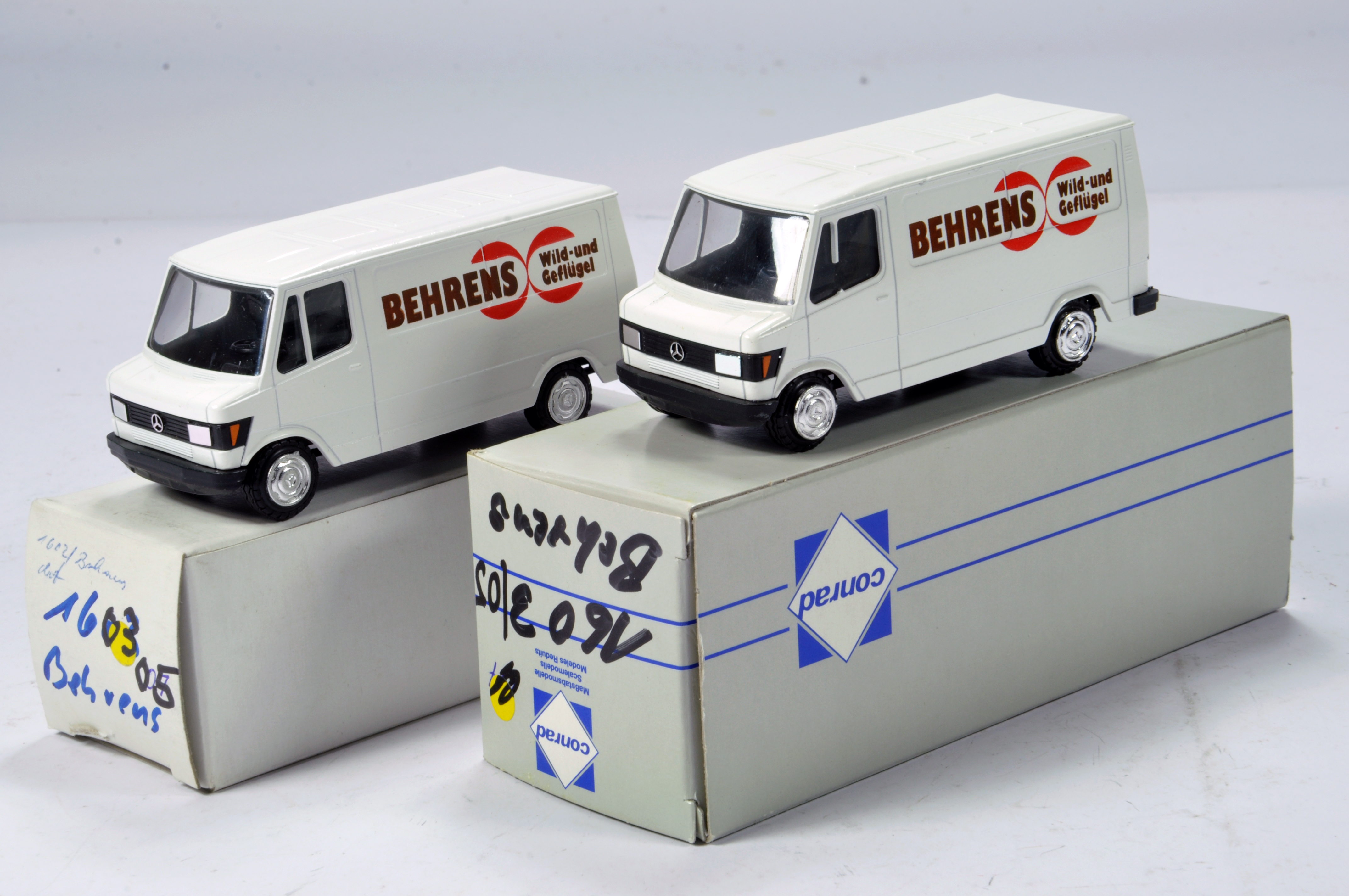 Lot 325 - Conrad 1/50 Construction Diecast No. 1603 Mercedes Benz Service Vans. Behrens. Scarce Promotional