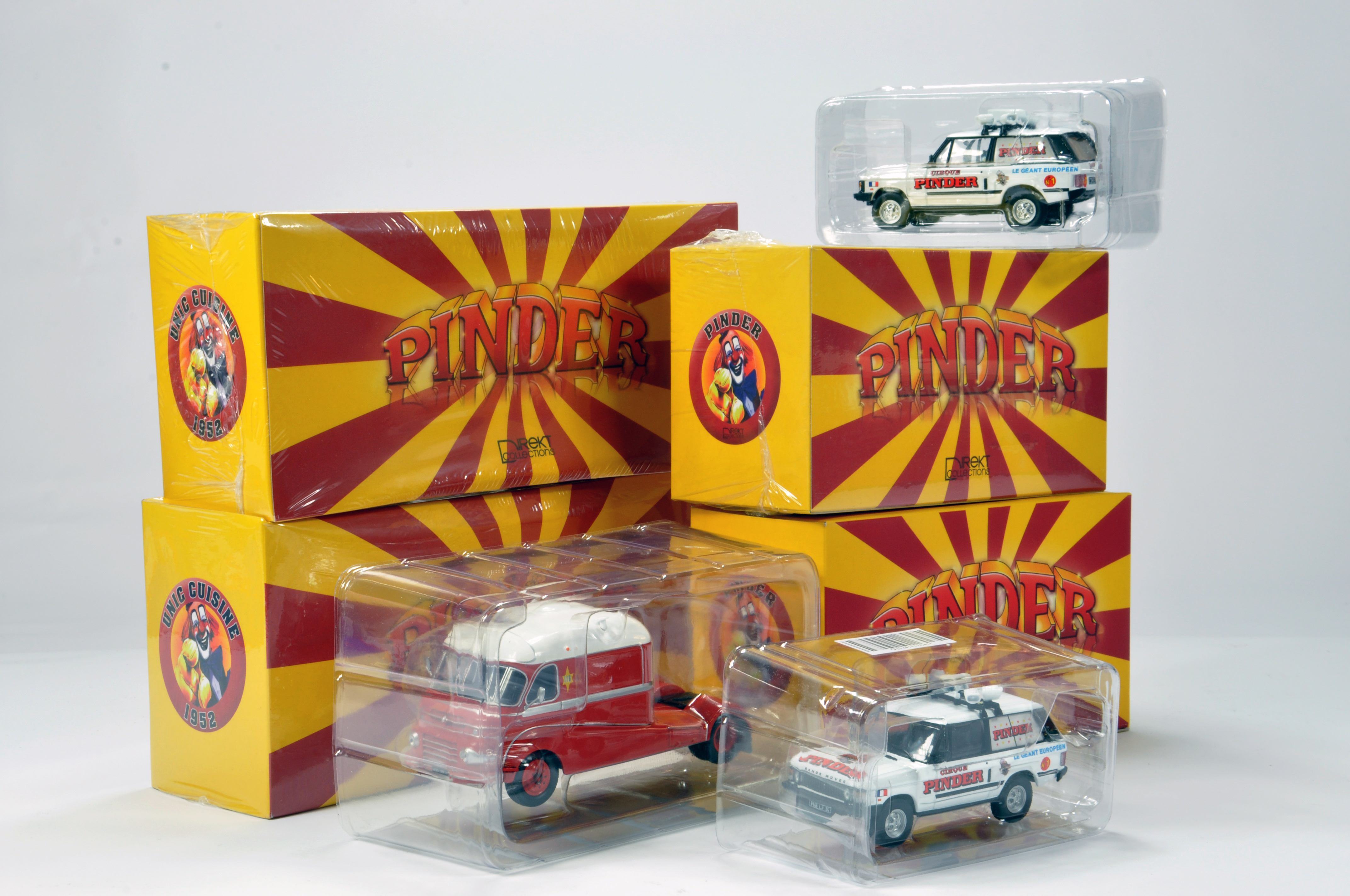 Lot 83 - Direkt Collections 1/43 Pinder assortment of limited edition models. Unic Cuisine x 2 plus Pinder