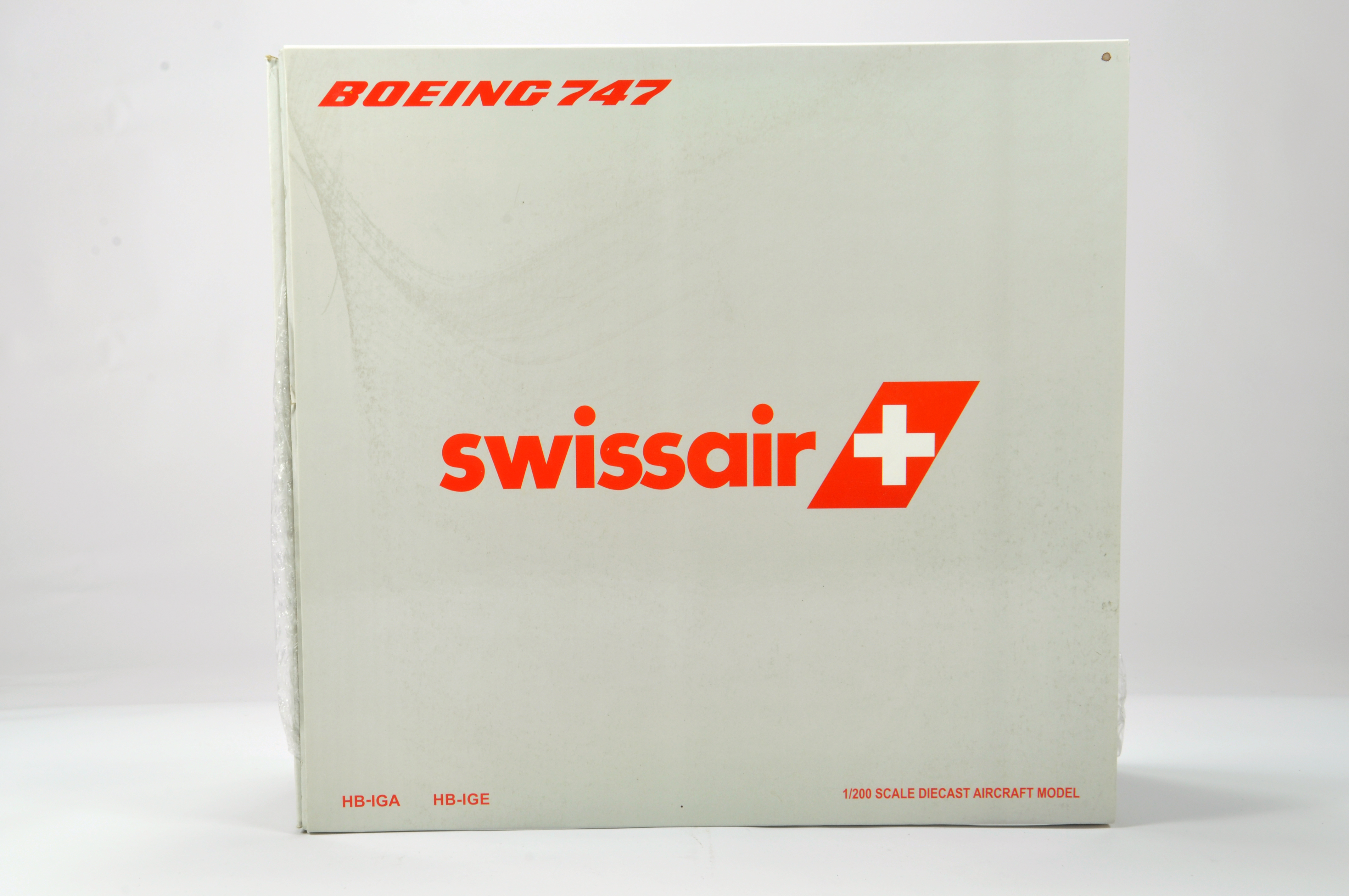 Lot 46 - JC Wings 1/200 Aircraft Boeing 747. Swiss Air. Appears NM to M in Box.