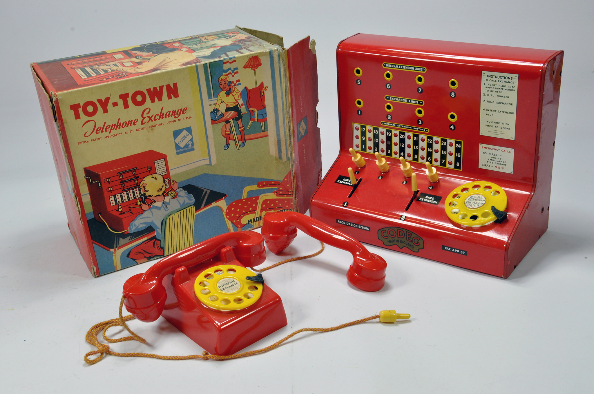 Lot 1179 - A Codeg Toy Town Telephone Exchange. This well preserved issue appears complete and comes with