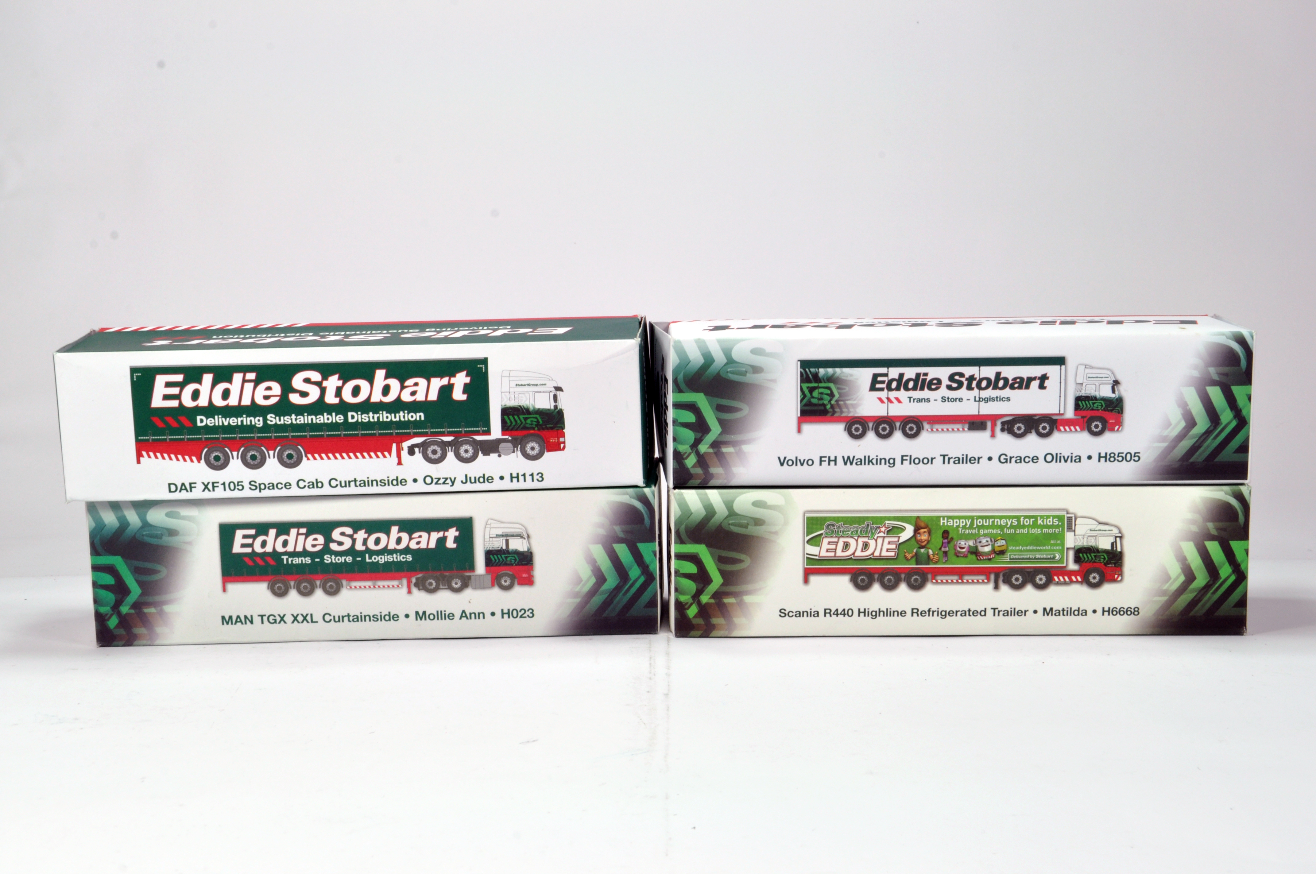 Lot 185 - Oxford Diecast 1/76 Commercial Diecast Construction Issue comprising Limited Edition Stobart