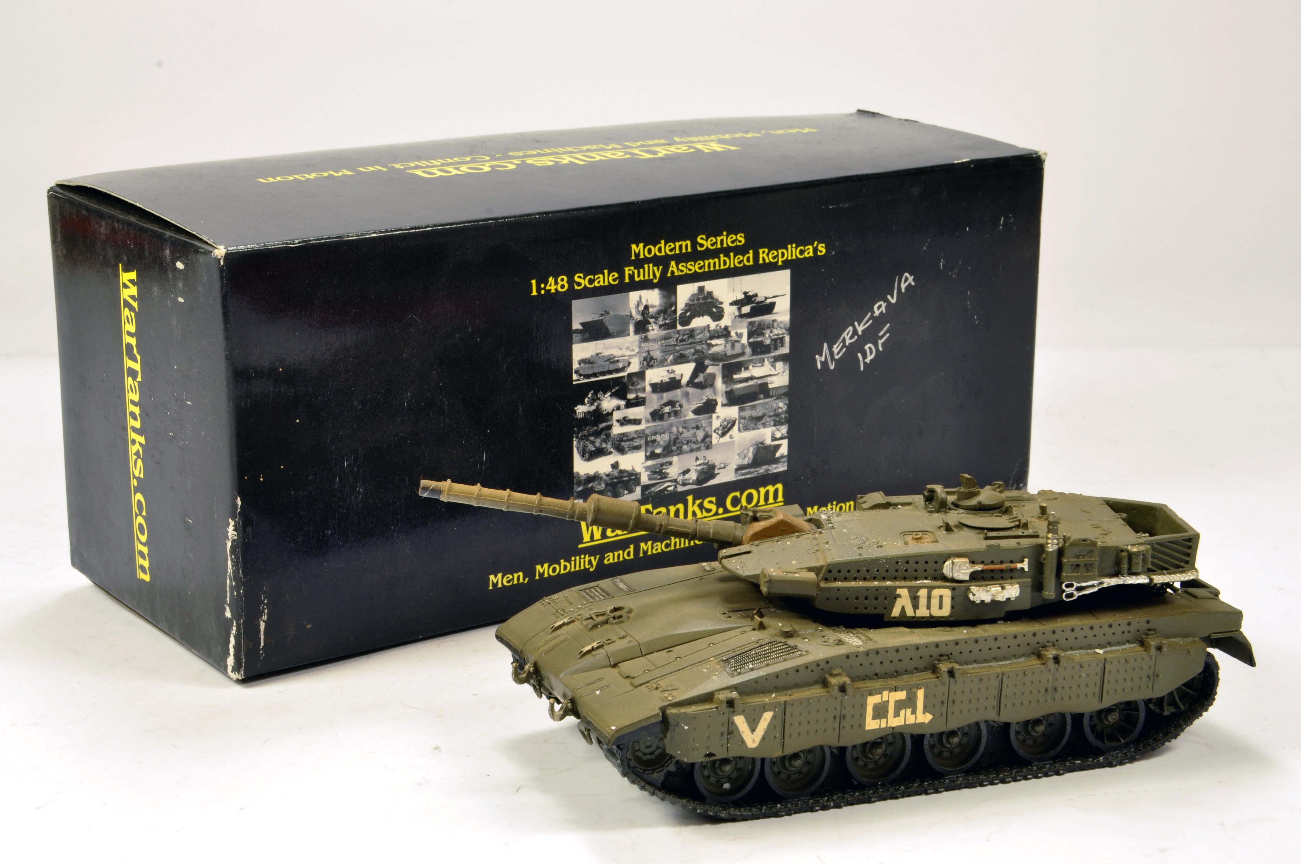 Lot 1096 - Wartanks.com 1/48 Resin White Metal issue comprising limited edition Merkava III Israeli Defence