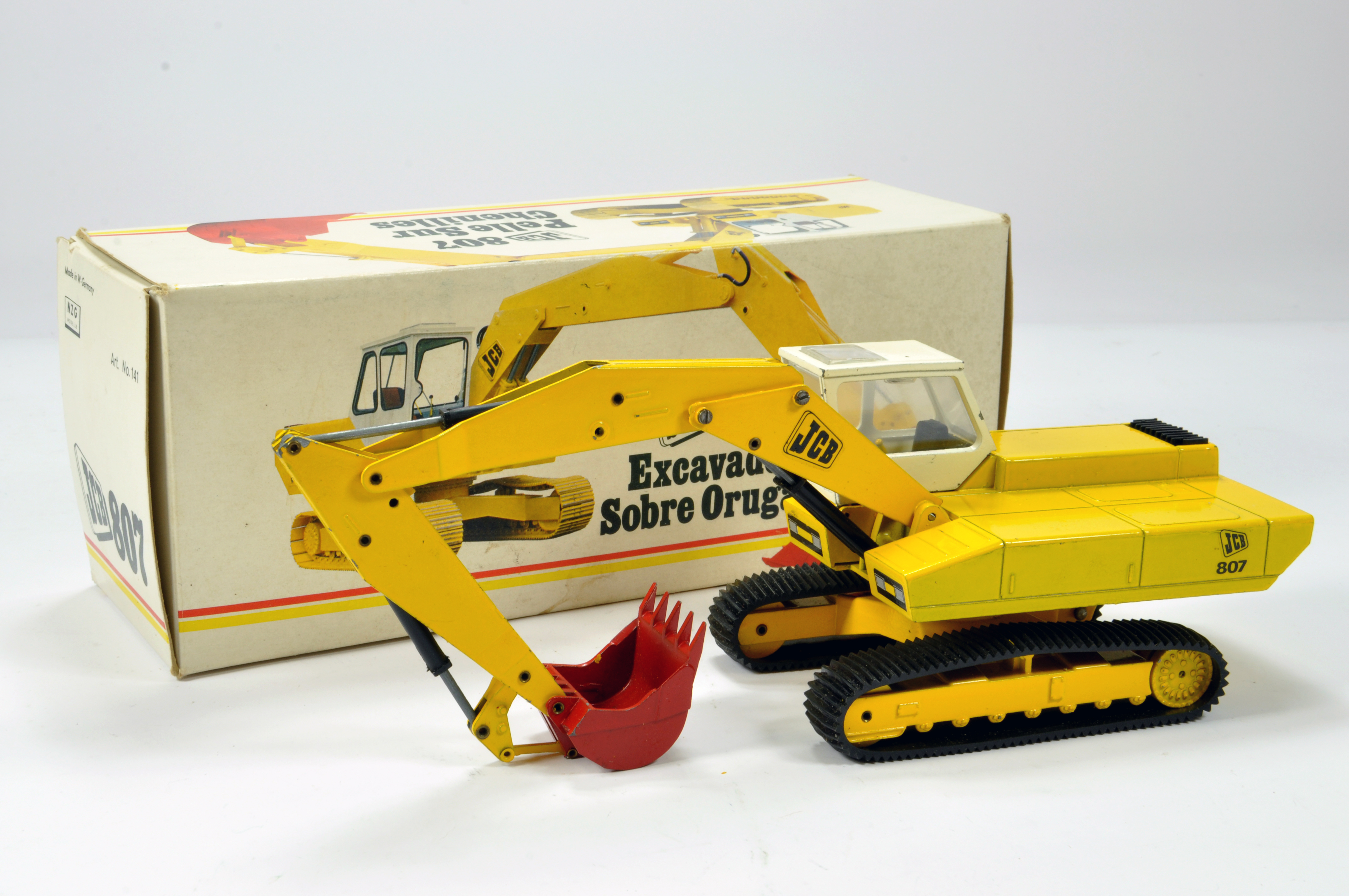 NZG 1/35 Construction Diecast Issue comprising No. 141 JCB 807 Tracked Excavator. Fine Example is NM