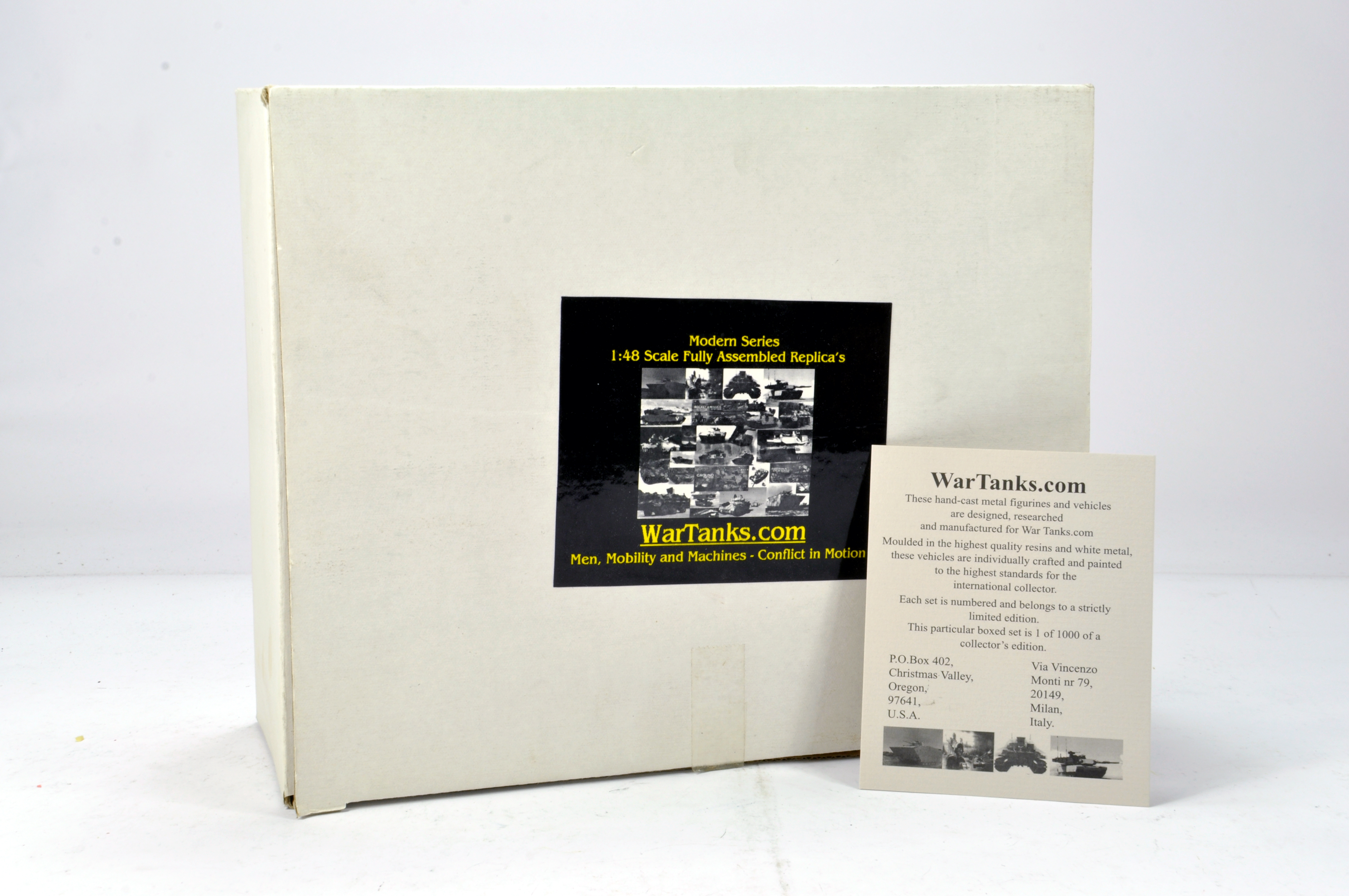 Lot 1130 - Wartanks.com 1/48 Resin White Metal issue comprising limited edition Road to Kuwait T55 Tank. NM