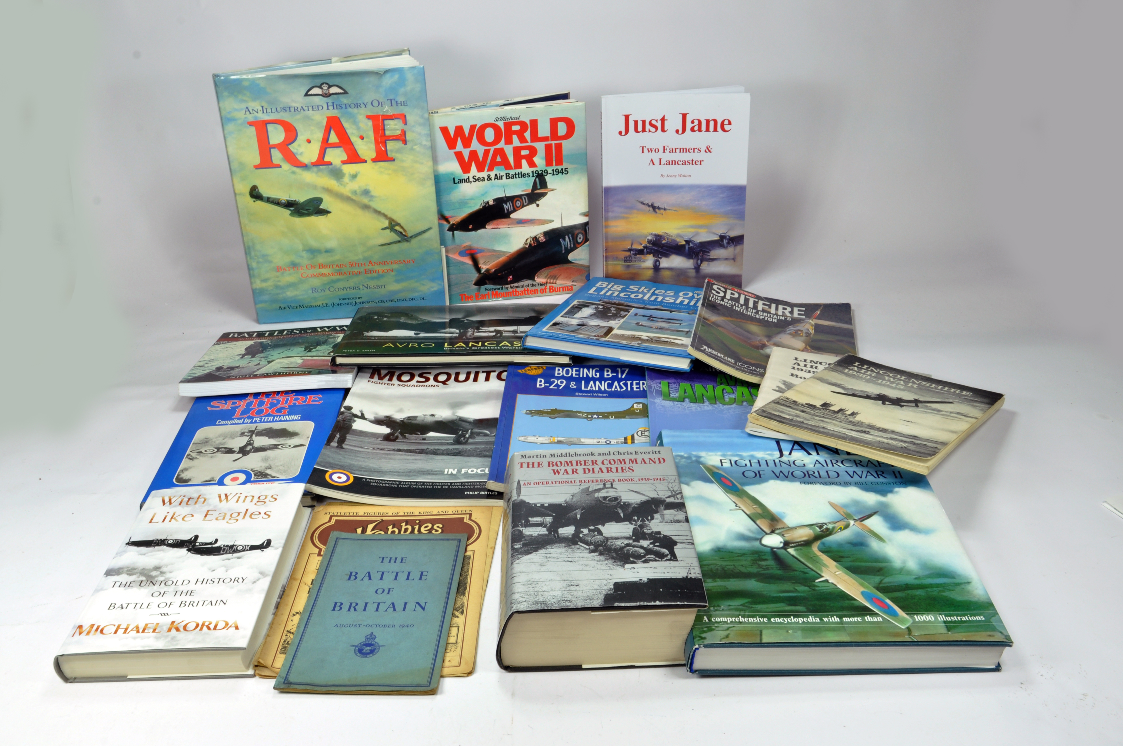 Lot 1146 - Various reference books relating to aircraft in particular Lancaster and Lincolnshire themed RAF