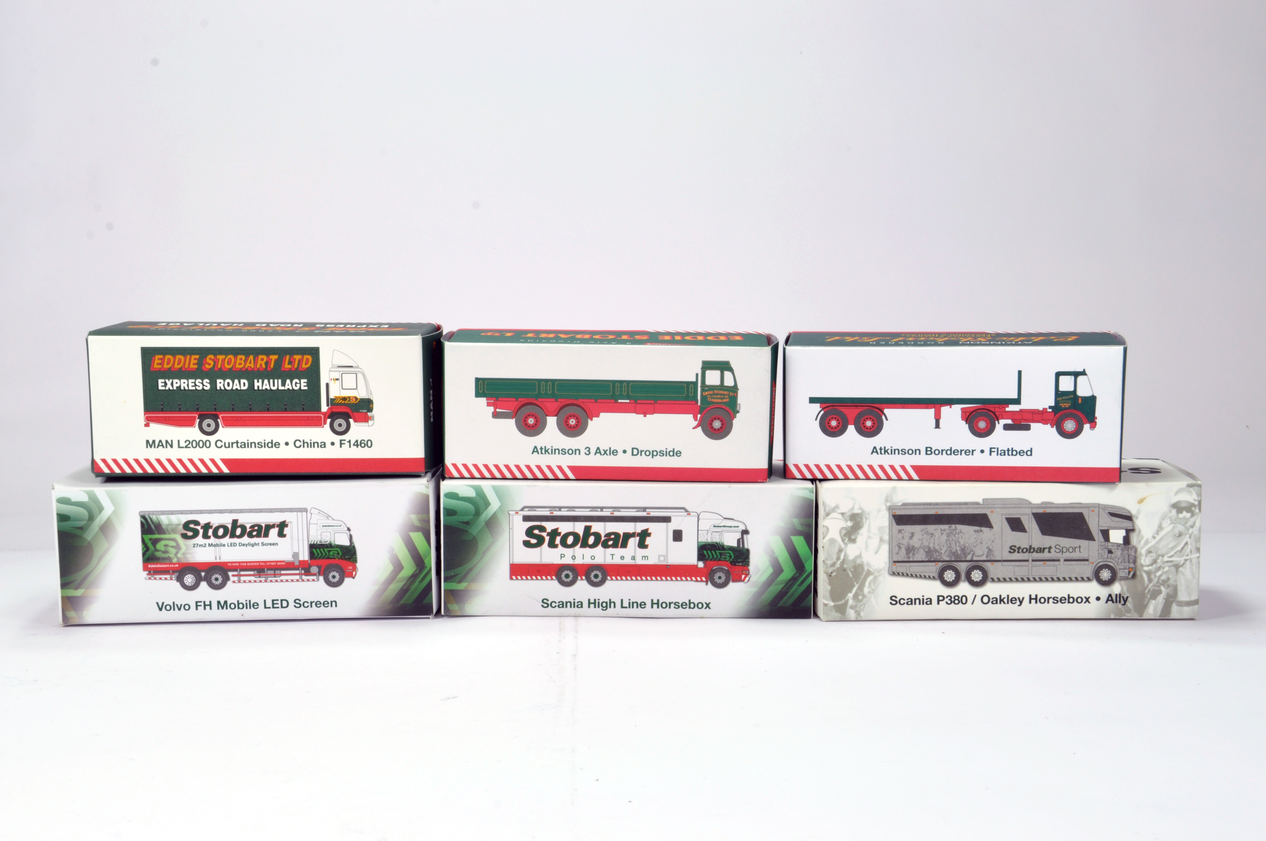 Lot 187 - Oxford Diecast 1/76 Commercial Diecast Construction Issue comprising Limited Edition Stobart
