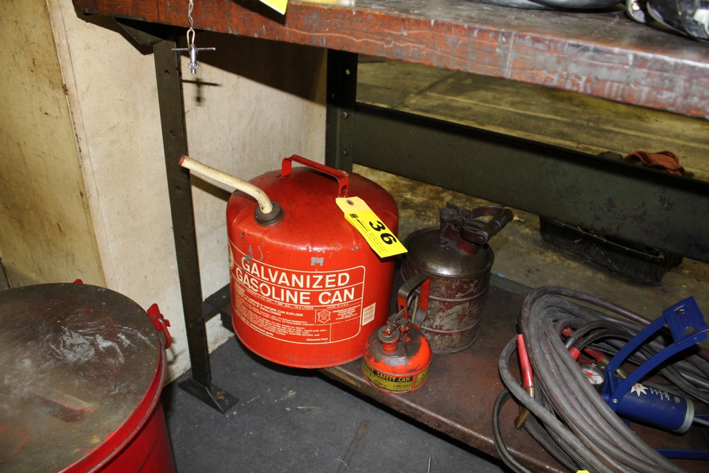 Lot 36 - ASSORTED GAS CANS