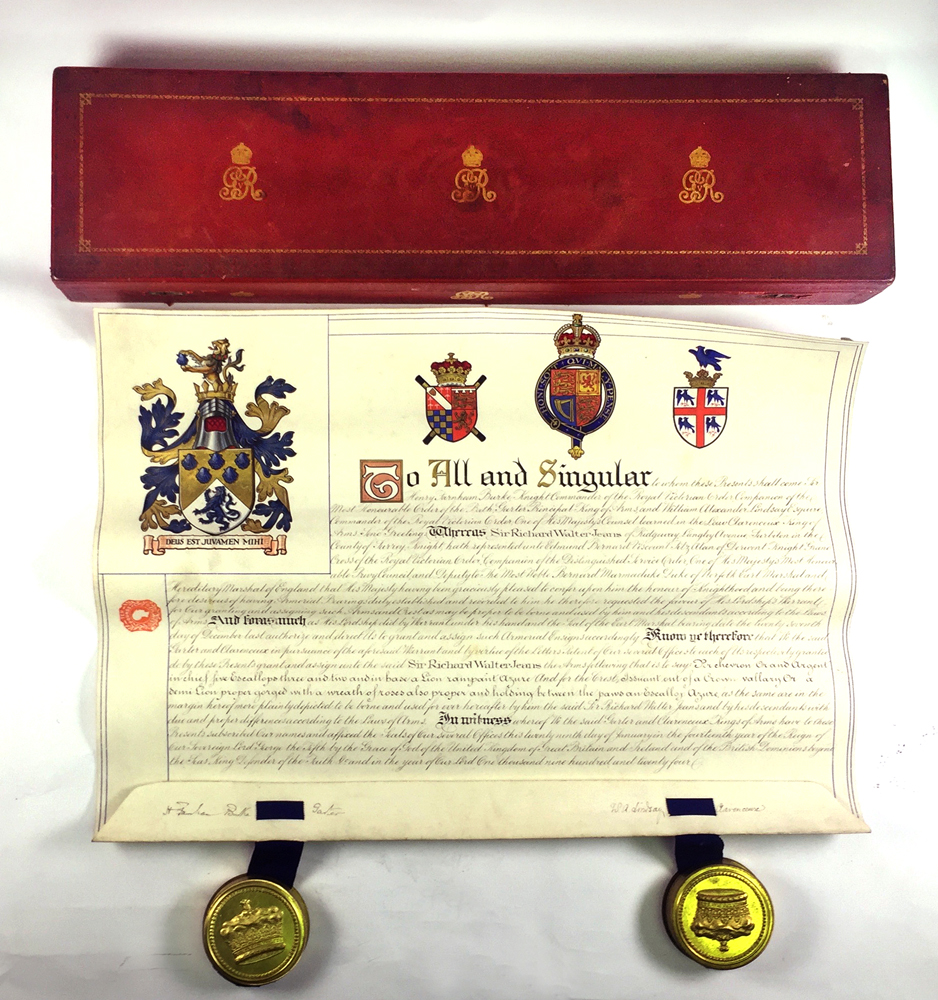 Lot 460 - A Grant Of Knighthood Document On Vellum, 1924