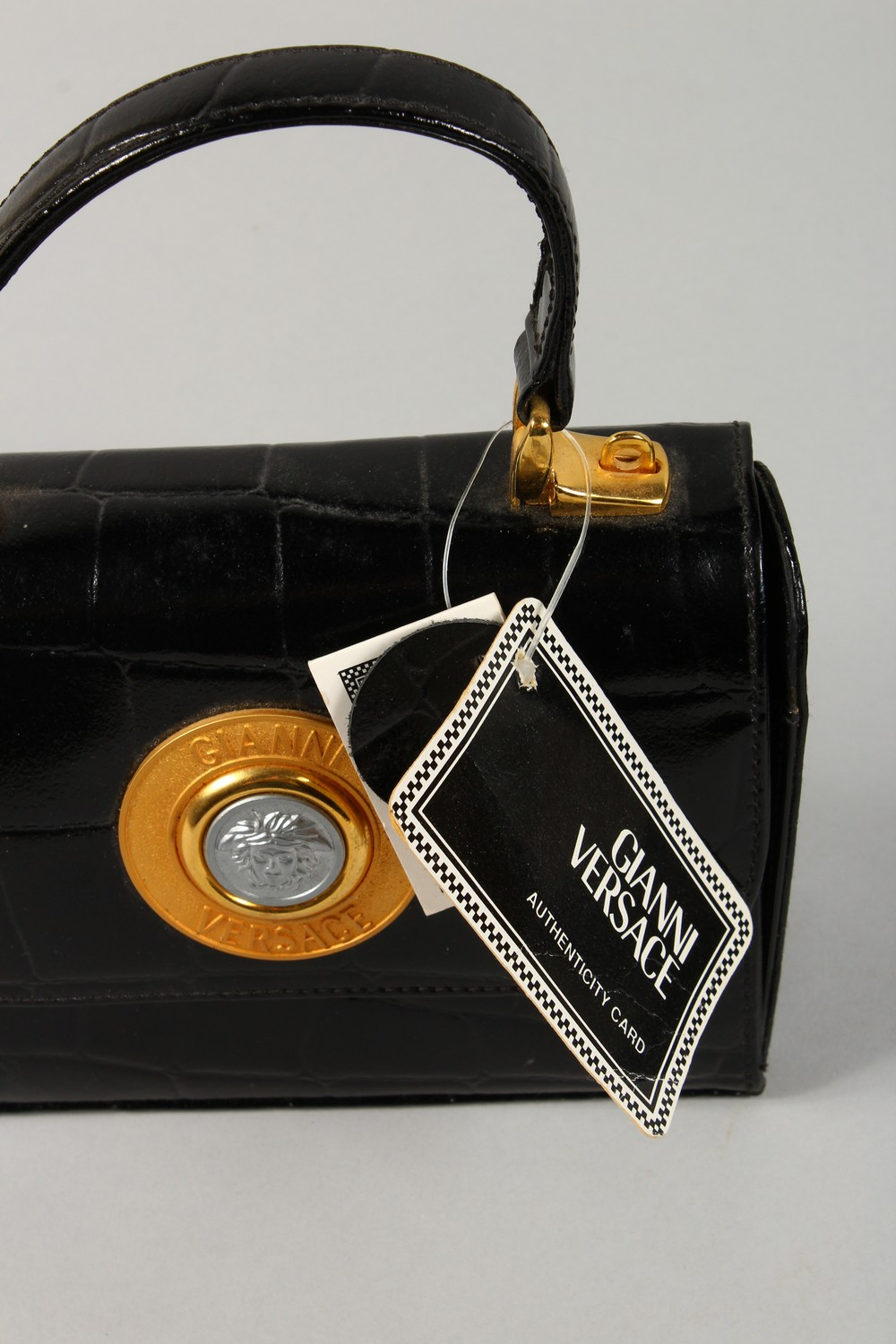 ALGERNON ASPREY, a ladies black leather handbag, and two other bags. - Image 9 of 16