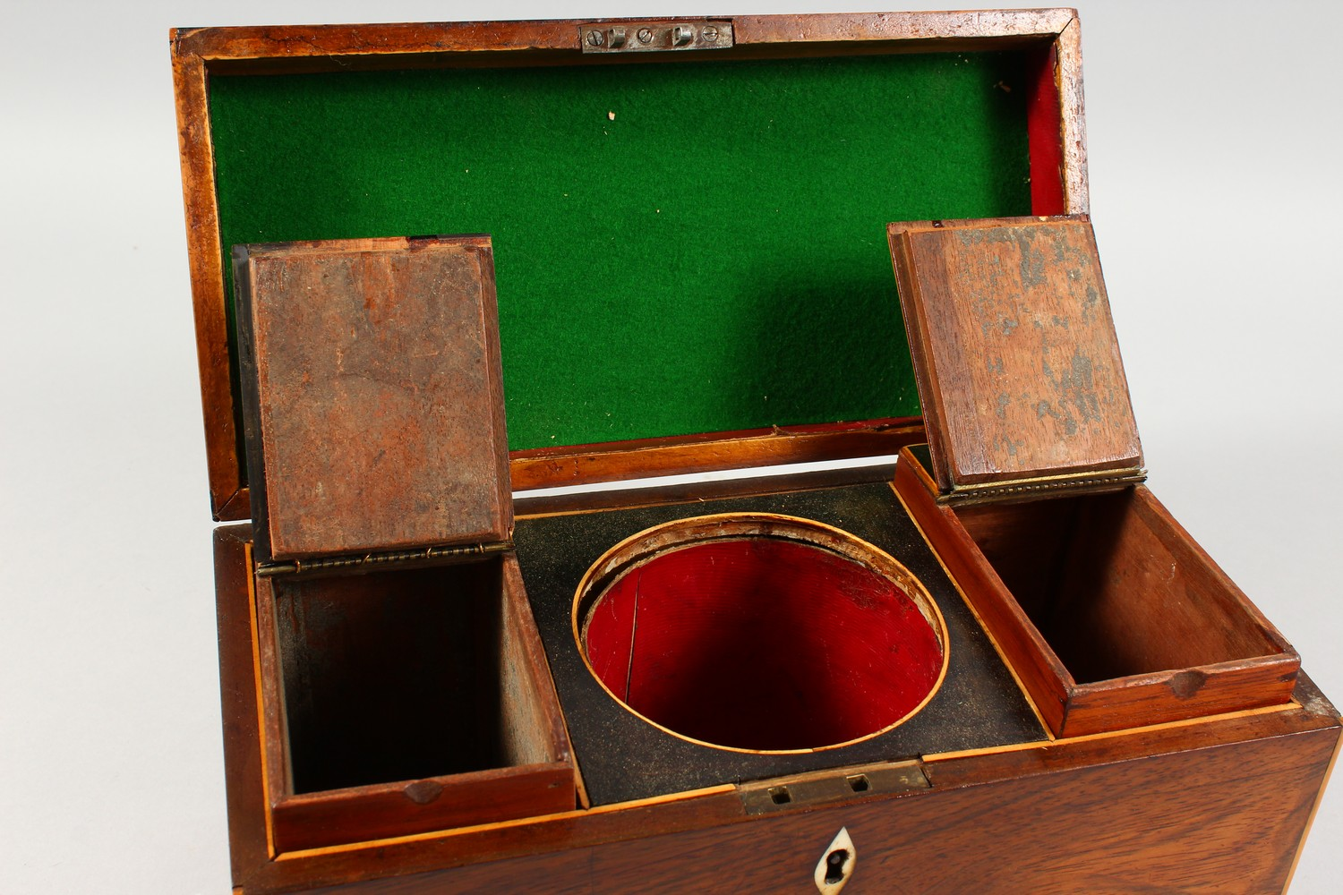 Lot 1477 - A 19TH CENTURY ROSEWOOD RECTANGULAR TEA CADDY. 12ins wide.
