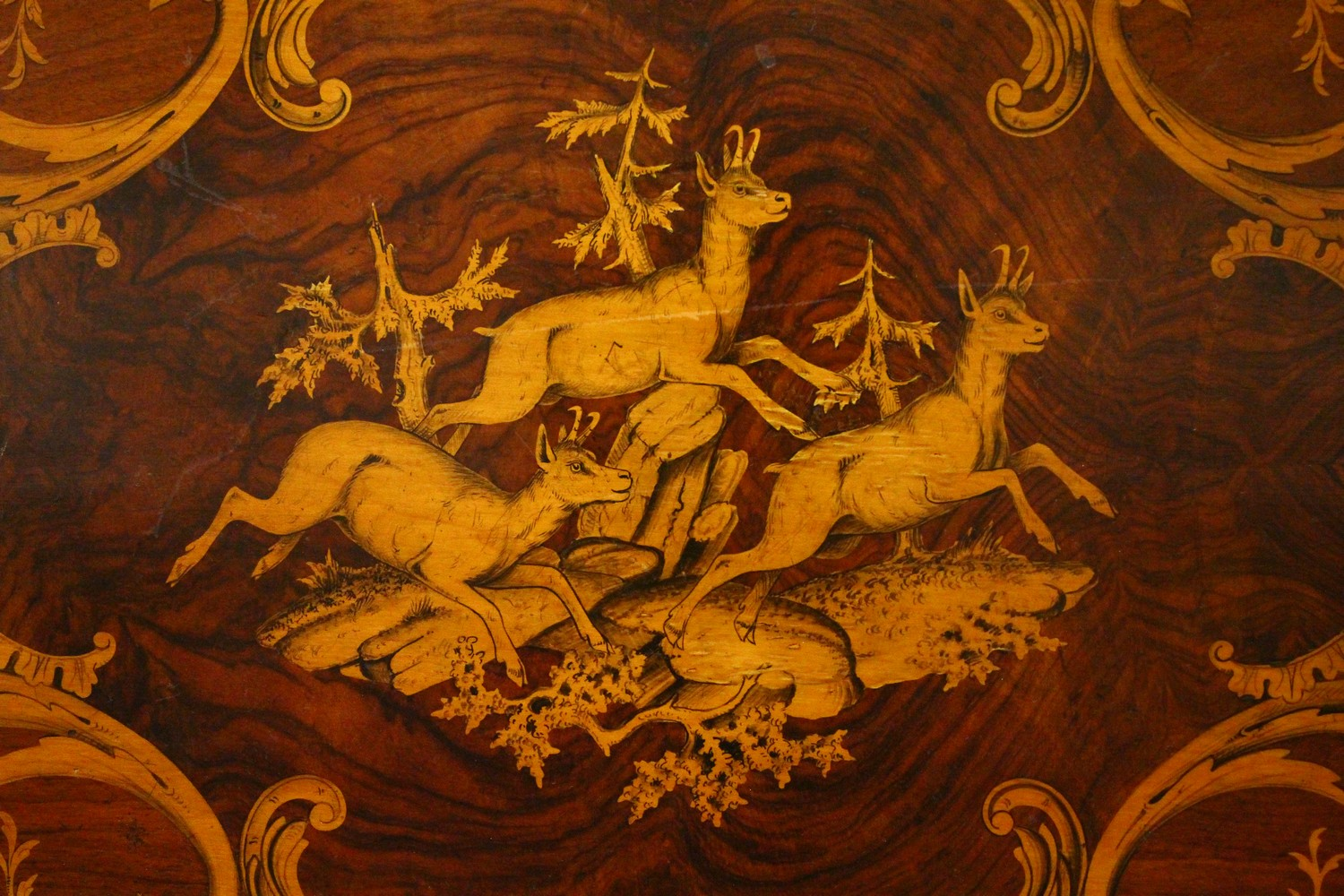 A LATE 19TH CENTURY BLACK FOREST INLAID TABLE. 2ft 1.5ins wide x 2ft 7ins high. - Image 3 of 14
