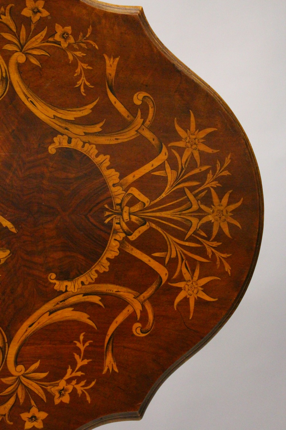 A LATE 19TH CENTURY BLACK FOREST INLAID TABLE. 2ft 1.5ins wide x 2ft 7ins high. - Image 5 of 14