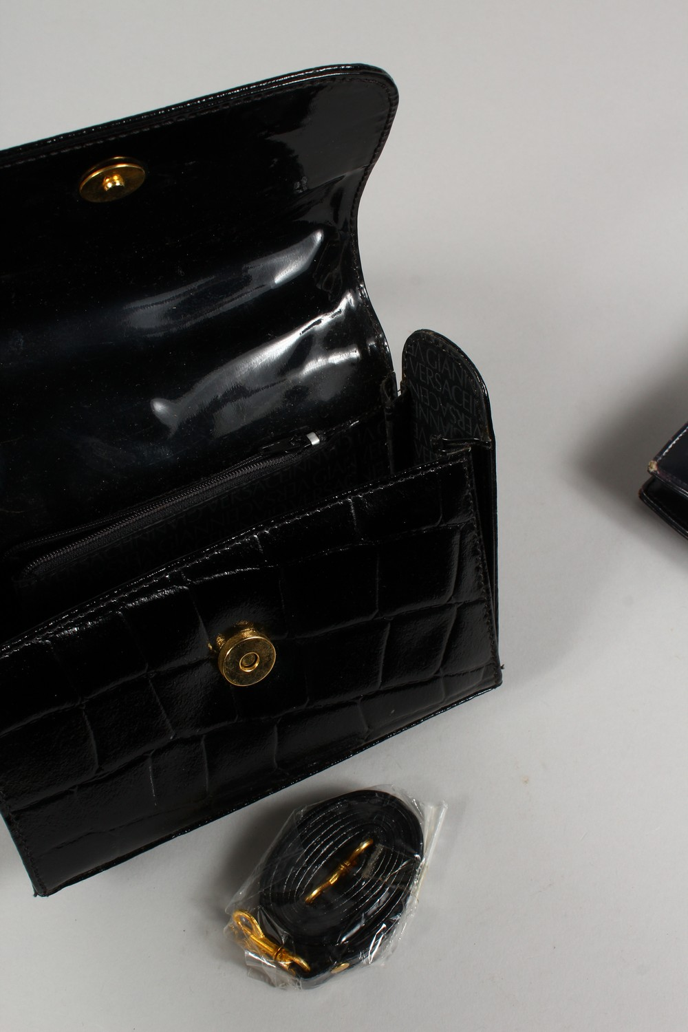 ALGERNON ASPREY, a ladies black leather handbag, and two other bags. - Image 11 of 16