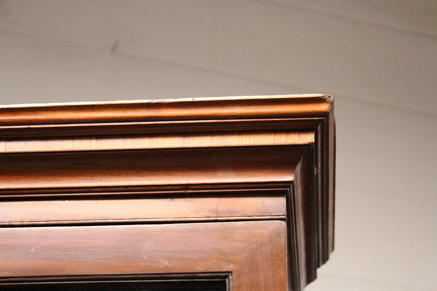 A GEORGE III DESIGN MAHOGANY CUPBOARD BOOKCASE, 19TH CENTURY, with a moulded cornice, pair of - Image 2 of 10