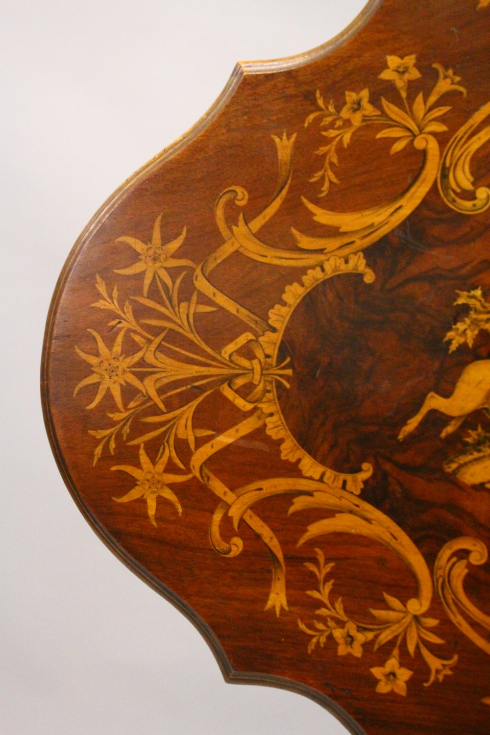 A LATE 19TH CENTURY BLACK FOREST INLAID TABLE. 2ft 1.5ins wide x 2ft 7ins high. - Image 6 of 14