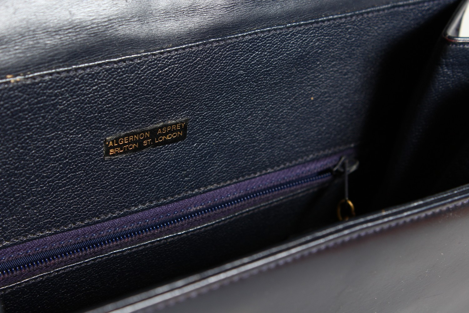 ALGERNON ASPREY, a ladies black leather handbag, and two other bags. - Image 14 of 16