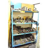 LOT/ ROLLING RACK WITH CLAMPING AND TOOLING (550 MCARTHUR)
