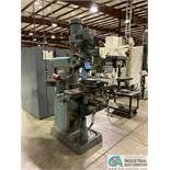 """2 HP ENCO MODEL 100-1529 VERTICAL MILL; S/N 441359, 7"""" X 42"""" POWER TABLE, SPINDLE SPEED 60-4200 RPM,"""