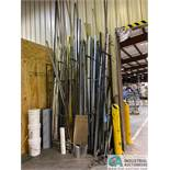 (LOT) MISC. METAL AND PVC PIPE AND BAR STOCK