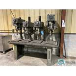 """18"""" - 20"""" 4-HEAD CLAUSING DRILL PRESS, SPINDLE SPEED 150-2000 RPM"""