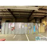 28' L X 13' W X 8' H DRIVE-IN BOLT-TOGETHER MODULAR PAINT BOOTH, CEILING AND WALL LIGHTING, BACK-