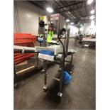 S/S ICOTET PORTABLE CONVEYOR, MOUNTED ON CASTERS, SPEC/MOD S/N ABL-0829, S/S CONTROL PANEL, APPX