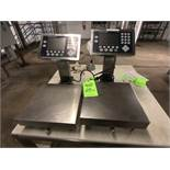 (2) METTLER TOLEDO S/S COUNTERTOP SCALES, LOAD CELL MODEL PBA430, W/ DIGITAL READOUTS MODEL ICS689-