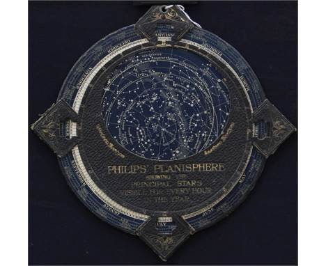 A Philips Planisphere showing the principal stars visible every hour in the year, on card backing, George Phillip & Son Ltd,