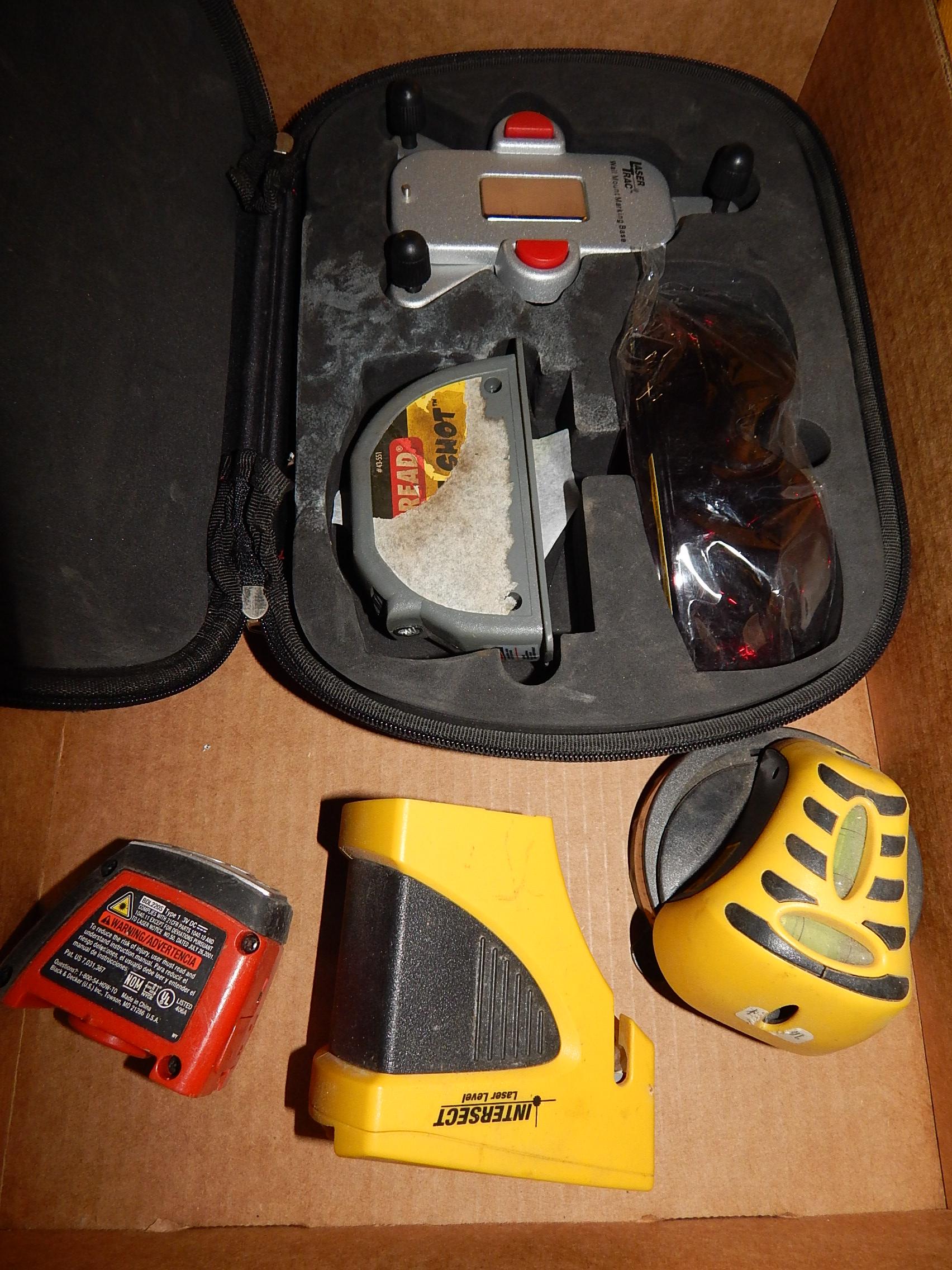 Lot 2 - Craftsman Laser Level Kit, Intersect, Strait-Line, Black and Decker Laser Levels