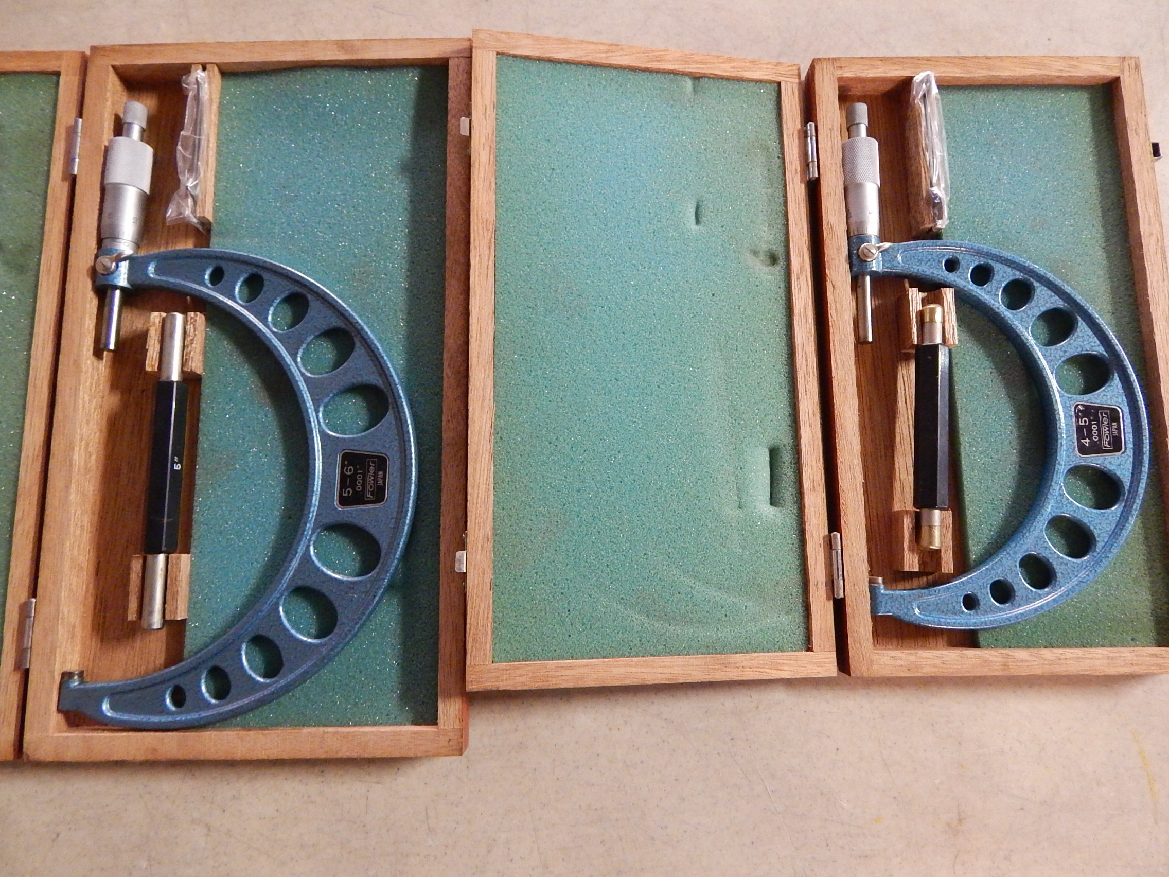"""Lot 19 - (2) Fowler Micrometers, (1) 4"""" - 5"""", (1) 5"""" - 6"""""""