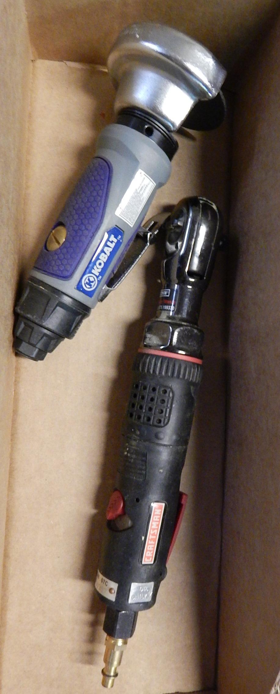 Lot 31 - Kobalt Pneumatic Grinder and Craftsman Pneumatic Ratchet