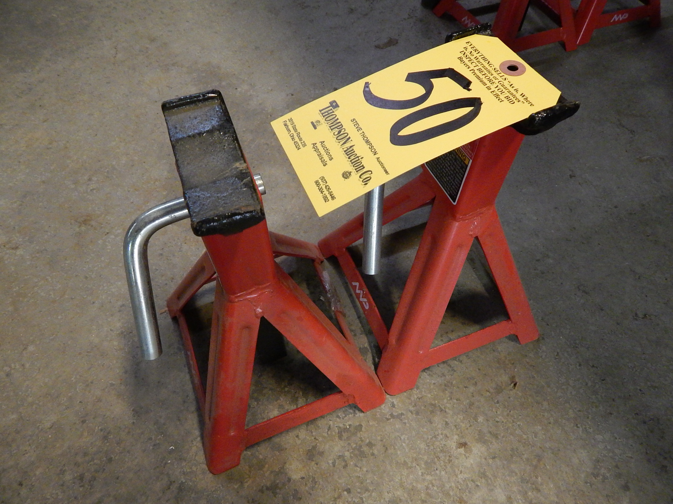 Lot 50 - (2) MVP 2 Ton Floor Jacks