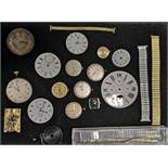 Five pocket watch movements,