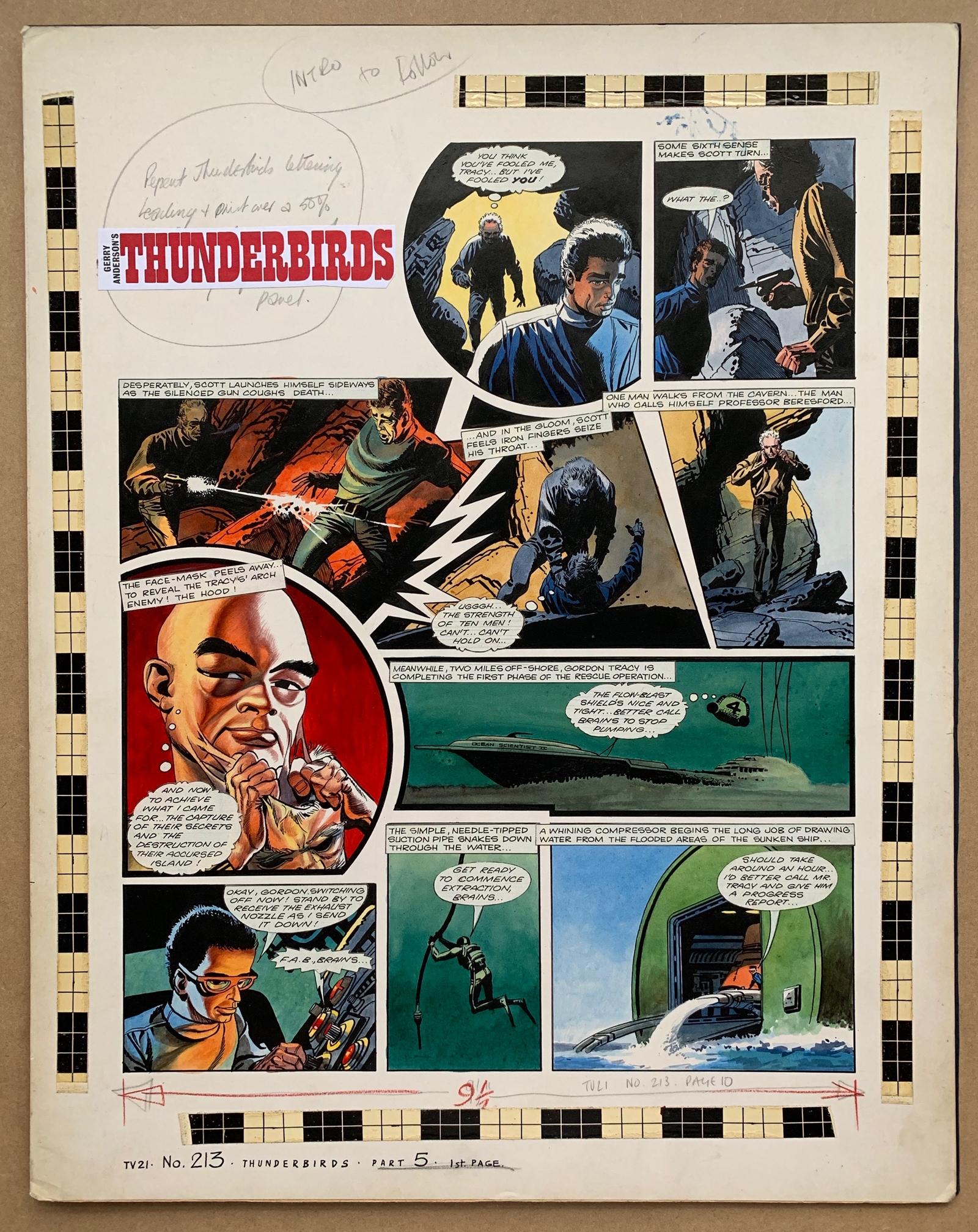 THUNDERBIRDS (1969) - ORIGINAL ARTWORK from TV21 C