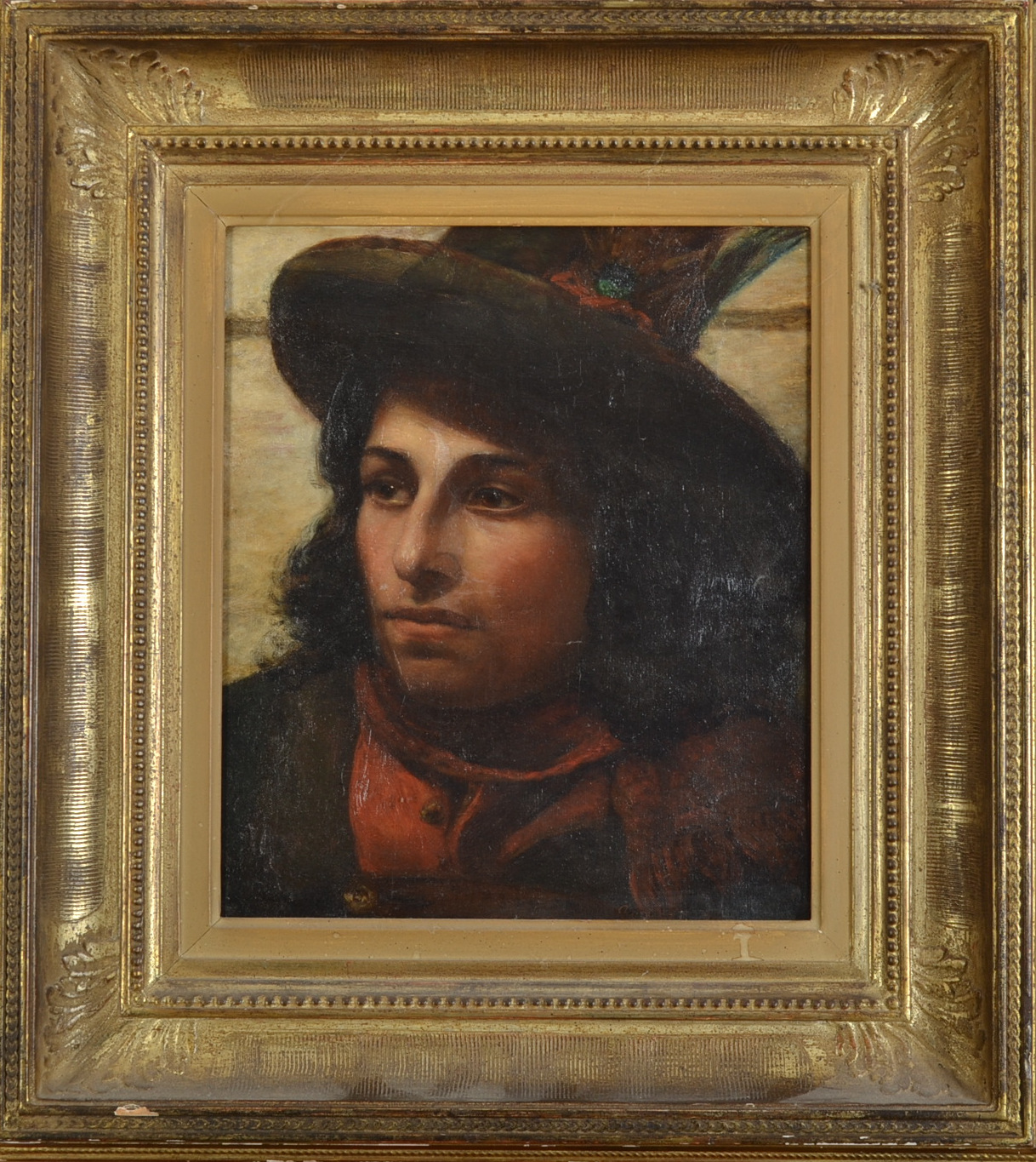 Lot 292 - ANNIE LOUISA SWYNNERTON Portrait of a Young Italian Man Oil on canvas Signed 36 x 30.5cm