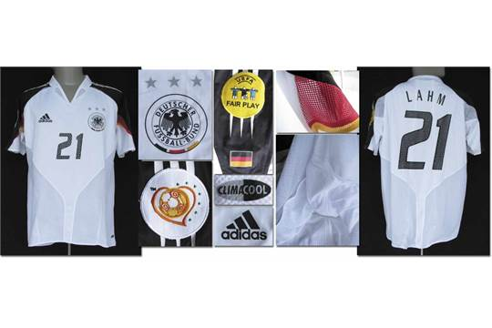UEFA EURO 2004 match worn football shirt Germany Original