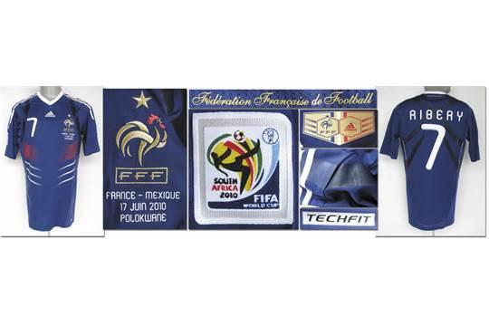 brand new 30be1 d3f9c World Cup 2010 match worn football shirt France - Original ...