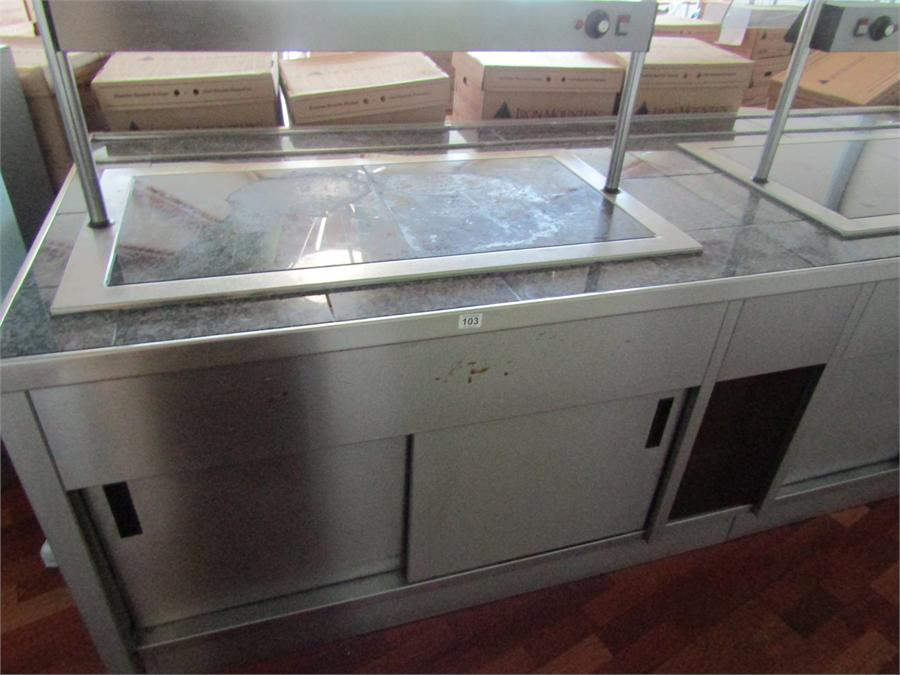Emh Double Hot Plate Serving Counter With Double Heated Storage Under Counter Dimensions 280cm X