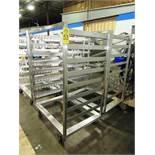 "Stainless Steel Smoke Trucks, 46 1/2"" L X 33"" W X 68"" T, 8 racks spaced 6 1/2"" apart, each have 13"