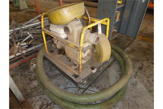 Wacker PT3 3 inch contractors water pump with diesel engine on skid