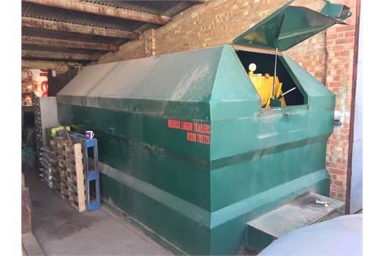 Merrick 10,000 litre forklift mountable bunded diesel tank with