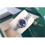 ♥ Rolex ♥ Lady Date 26 - Blue Arabic Oyster Perpetual