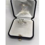 STUNNING 5.12ct DIAMOND SOLITAIRE RING