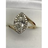 2.02ct MARQUISE DIAMOND SOLITAIRE RING