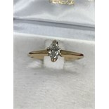 14ct GOLD 0.62ct MARQUISE SOLITAIRE RING